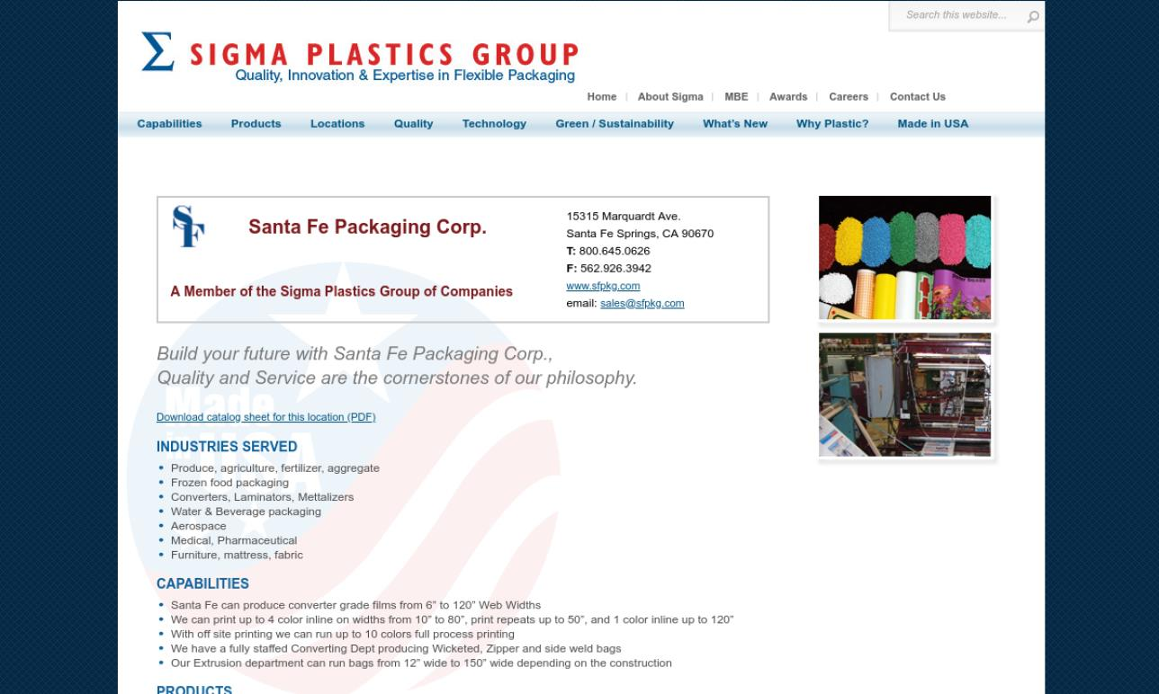 Santa Fe Packaging Corp.